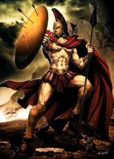 Mars was the god of war in the roman mythology and the equivalent of Greek god, Ares. Find out more facts about Mars, the roman god, whose children founded what we know today as Rome. Greek Warrior, Fantasy Warrior, Fantasy Art, Greek Gods And Goddesses, Greek And Roman Mythology, Digital Art Illustration, Spartan Tattoo, Mythology Tattoos, Spartan Warrior