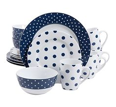 Isaac Mizrahi Dot Luxe 16-Piece Dinnerware Set, Navy Isaac Mizrahi http://www.amazon.com/dp/B00JXQ5BJC/ref=cm_sw_r_pi_dp_2dTKwb0RND3BH