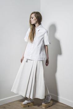 Contemporary Fashion - white shirt & pleated skirt // Alexandre Plokhov Spring 2016