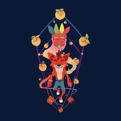 Crash Bandicoot Crystal Aku Aku Men's T-Shirt