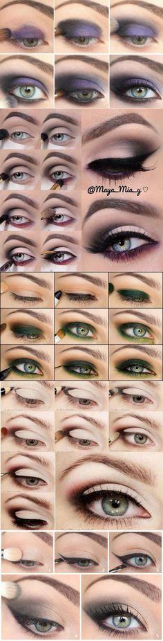 Красивый вечерний макияж глаз 2017-2018: фото макияжа для зеленых глаз пошагово