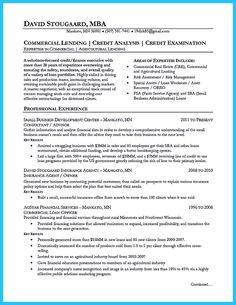 credit analyst resume example | Resume | Pinterest | Resume ...