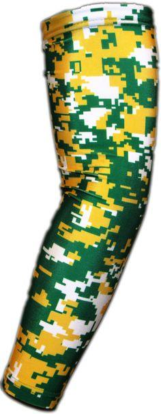 Green Yellow White Digital Camo Arm Sleeve Compression Arm Sleeves, Digital Camo, Make A Gift, Arms, Design Inspiration, Yellow, Green, Color, Gift List