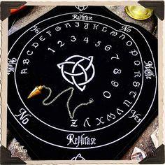 BLACK VELVET PENDULUM Mat, Spirit Board, Divination, Ritual, Scrying, Psychic Channelings, Tarot, Healing, Spiritual Insight, Ouija, Witch   www.whitewitchparlour.com