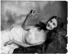 Old Picture: Girl Smoking