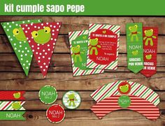 kit imprimible sapo pepe + candy bar