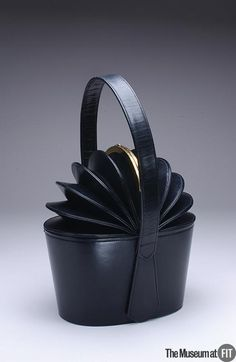 1949 Bogan black leather with gold tone metal