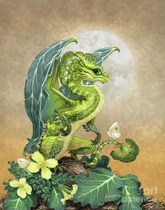 Broccoli Dragon Print by Stanley Morrison.  All prints are professionally printed, packaged, and shipped within 3 - 4 business days. Choose from multiple sizes and hundreds of frame and mat options.