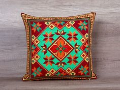 Check out this item in my Etsy shop https://www.etsy.com/listing/271603715/retro-embroidered-geometrical