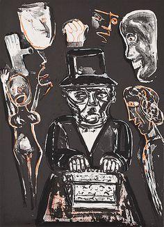 "Lena Cronqvist: Ur ""Ett Drömspel"", 1989, litografi, 73x53 cm, edition 169/170 - Bukowskis Market 3/2013"