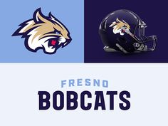 Fresno Bobcats designed by CJ Zilligen. Connect with them on Dribbble; the global community for designers and creative professionals. Sports Uniforms, Team Uniforms, Arena Football, Football Helmets, Football Logo Design, Identity, Logo Basketball, Community Activities, International Football