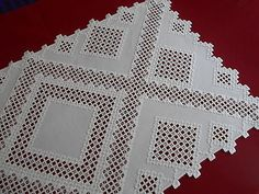 Gorgeous-white-on-white-Hardanger-table-runner