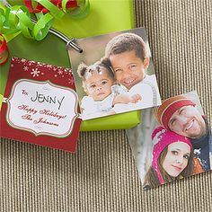 Personalized Photo Gift Tags - Happy Holidays