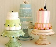 cakes...each table could have their own cake at the reception with different colors, styles and flavors.