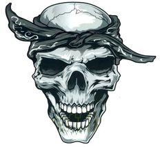 Gangsta Tattoo Drawings | gangster skull decal sticker