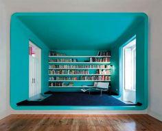 Bibliotheque Bleu Cyan