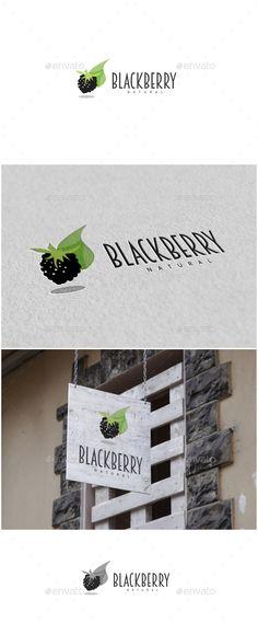 Blackberry Logo by MS_designer Blackberry Logo -AI and EPS file -CMYK mode vector and resizable -Easy to edit color and text -Blackberry Logo Color(Horiz Food Logo Design, Typo Design, Best Logo Design, Logo Food, Logo Design Template, Logo Templates, Typography Design, Resturant Logo, Logo Restaurant