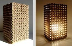 #Eco #Lamp made using cardboard With homeowners getting more conscious about the furniture and decorative items they place in their environmentally friendly homes, designers too have started creating environmentally friendly home décor items for such green homes.