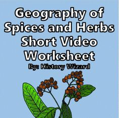 Geography and History of Spices Short Video Worksheet by History Wizard