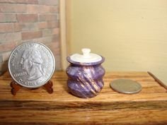 Dollhouse Miniature 1:12 Cookware & Tableware Canister Handcrafted OOAK #HO11 #HandcraftedMiniaturesbyOppi