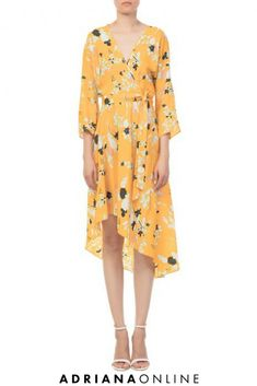 You need a new summer dress? Silk yellow mid-lenght asymmetric dress by DVF features a V-neckline with adjustable self-tie strap at waist. It's a perfect midi dress for a romantic dinner or the night out! Silk Dress, Wrap Dress, Romantic Dinners, Asymmetrical Dress, Diane Von Furstenberg, Dress To Impress, Night Out, White Dress, Neckline