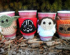 Star Wars inspired coffee cozy SET mug cozies - Google Search (no pattern though...)
