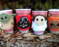 Star Wars inspired coffee cozy SET mug cozies - Google Search (no pattern though...)
