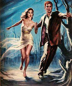 "Illustration by Charles Copeland for""Red-Haired Man"", Swank Magazine, November 1958"