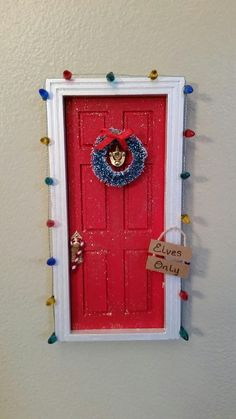 Christmas Elf Door/Tooth Fairy Door by TheCraftConnoisseur on Etsy