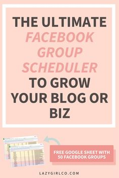 How to grow traffic to your blog using facebook groups. The ultimate facebook group list to grow traffic. Facebook group scheduler. Over 50 facebook groups for bloggers.
