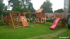 Znalezione obrazy dla zapytania drewniany plac zabaw