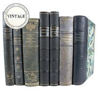 Vintage 7-Piece Leather Book Set II