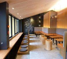 The Best Modern Office Design Ideas 18 Japanese Restaurant Interior, Architecture Restaurant, Japanese Interior, Cafe Interior, Interior Architecture, Interior Design, Office Cabin Design, Modern Office Design, Design Café