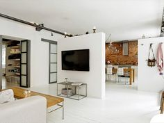 """open space / just a wall to make different """"room"""""""