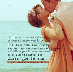Ele te ama! #mensagenscomamor #sentimentos #frases #casais #amor #relacionamentos