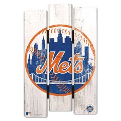 """NEW YORK METS FENCE WOOD SIGN 11""""X17'' BRAND NEW FREE SHIPPING WINCRAFT #Wincraft #NewYorkMets"""