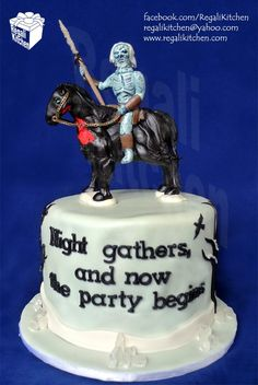Game of Thrones White Walker cake!  This is possibly the single greatest thing I've ever seen!!