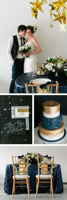 Star Wars Wedding Inspiration, DIY wedding, Star Wedding decor, real flowers in hair, gold makeup. Vendors: Fifth & Hazel, Your Beauty Call, Layers of Lovely, Mina Olive, Peridot Sweets, The Wooden Trunk, Caravan Shoppe, La Tavola Linen, RSVP Party Rentals