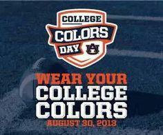 Wear your colors Aug.30