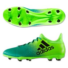 low priced ef9cb 55122 adidas X 16.3 FG Soccer Shoes (Solar Green Black)   SoccerEvolution
