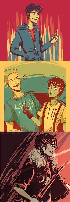 Percy Jackson, Jason Grace, Leo Valdez & Nico di Angelo (Artwork)