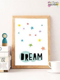 SALE Baby Room Decor Printable Quotes dream by ArtPrintsFactory