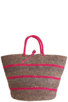 A lovely handwoven straw tote always makes for a fashionable and practical accessory that perfect for carrying beach towels, sunscreen, a book, and a bottle of water down to the beach or to the pool.