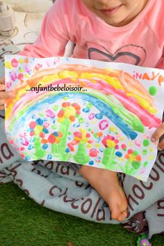 Puffy Peint - Recette Peinture gonflante au micro onde Fisher, Micro Onde, Beach Mat, Diy And Crafts, Outdoor Blanket, Activities, Kids, Painting, Saint
