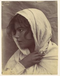 [Young Girl [?] with Cloak of Cloth Over Head, Sicily, Italy] Wilhelm von Gloeden (Italian, born Germany, 1886–1931