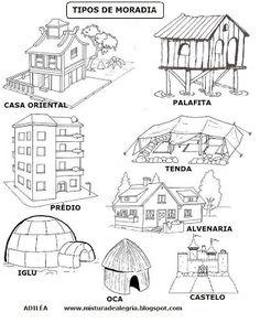 A História das Moradias - Atividades e Modelos de Casas - Mundinho da Criança - Atividades para Educação Infantil