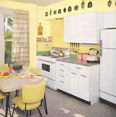 bright kitchen design, 1957