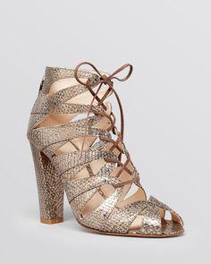 Delman Lace Up Sandals - Darci High Heel