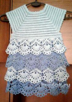 Здравствуйте, меня зовут Юлия. Я из Саратова. Очень люблю вязать крючком. Впервые связала платье для дочки и хочу поделиться со всеми своим творчеством.