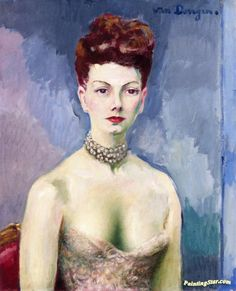 Portrait Of A Woman Artwork by Kees Van Dongen